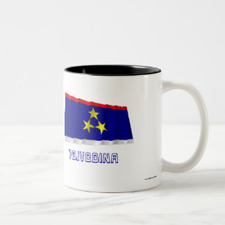 Vojvodina Waving Flag with Name Two-Tone Coffee Mug