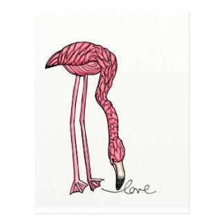 vol25- flamingo love postcard