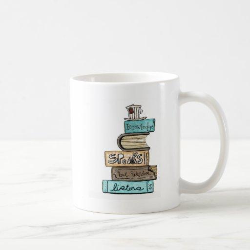 vol25- knowledge speaks coffee mug