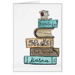 vol25- knowledge speaks greeting card