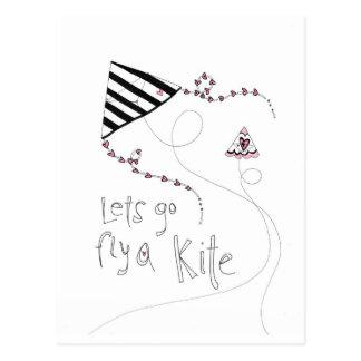 vol25 lets fly a kite postcard