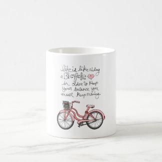 vol25 life is like riding a bicycle coffee mug