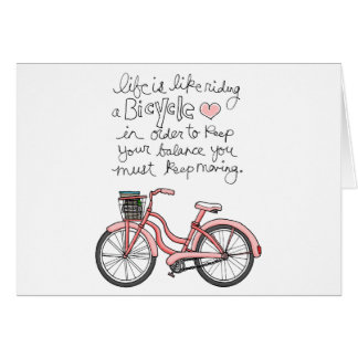 vol25 life is like riding a bicycle greeting cards