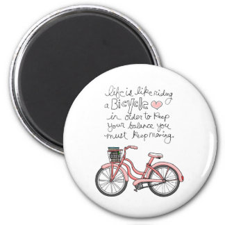 vol25 life is like riding a bicycle refrigerator magnets
