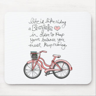 vol25 life is like riding a bicycle mouse pad