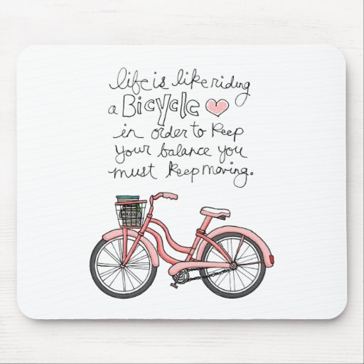 vol25 life is like riding a bicycle mousepad