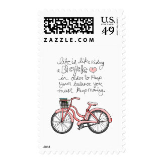 vol25 life is like riding a bicycle postage