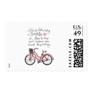 vol25 life is like riding a bicycle postage stamp