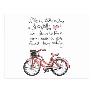 vol25 life is like riding a bicycle post cards