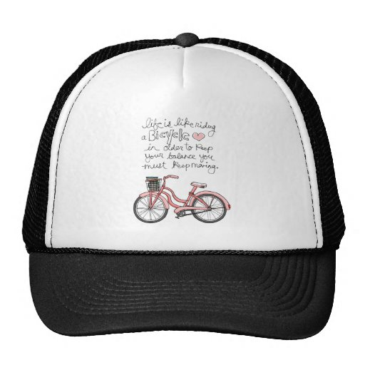 vol25 life is like riding a bicycle trucker hat