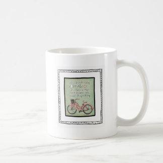 vol25- life is like riding a bicyle classic white coffee mug