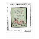 vol25- life is like riding a bicyle postcard