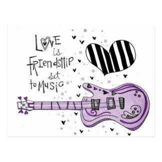 vol25 love is friendship postcard