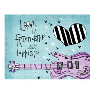 vol25- love is friendship postcard