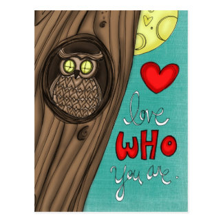 vol25- love who you are postcard
