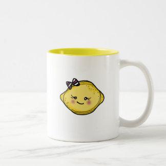 vol25 rosey cheeked lemon head Two-Tone coffee mug
