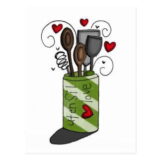 vol25 utensil love postcard