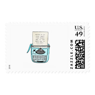 vol25 write it in your heart postage stamp