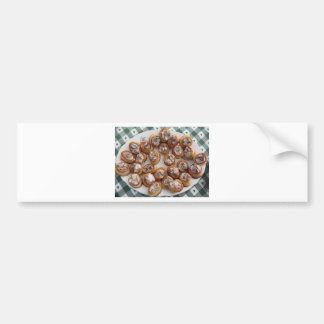 Vol au vents filled with chopped mushrooms bumper sticker