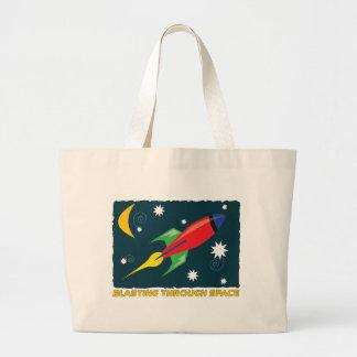 Voladura a través de espacio bolsa lienzo