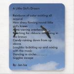 Volando libremente, DreamRainbows de una niña de Alfombrilla De Ratón