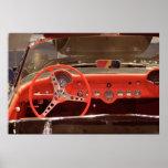 Volante 1956 y rociada de Chevrolet Corvette Posters