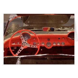 Volante 1956 y rociada de Chevrolet Corvette Tarjeta De Felicitación