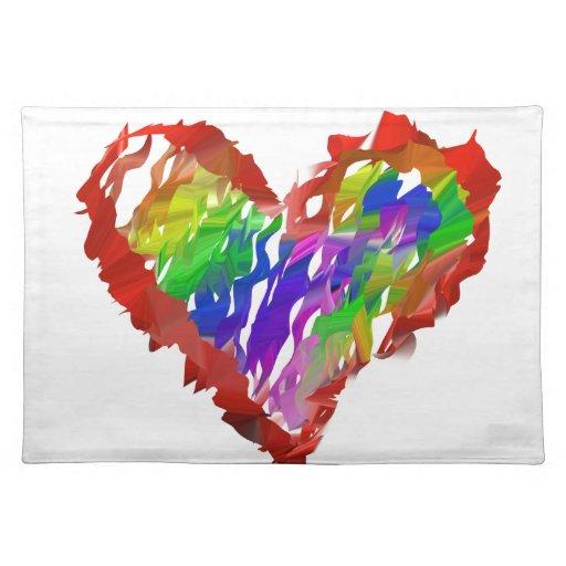Volante sucio del extracto de los corazones del ar manteles individuales