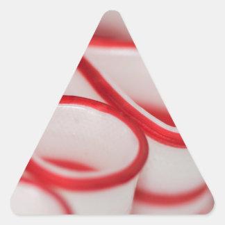 Volantes del caramelo de la cinta de la pegatina triangular