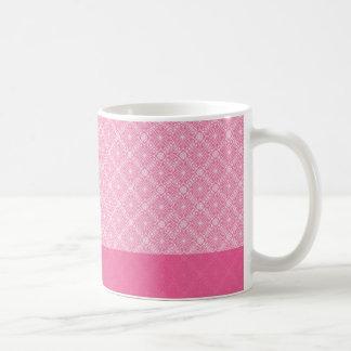 Volantes rosados taza clásica