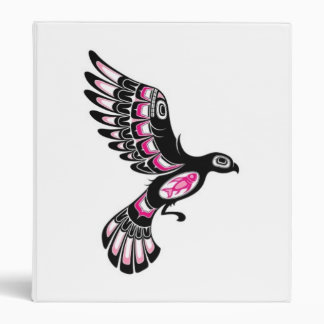 Volar el pájaro rosado y negro del alcohol del Hai