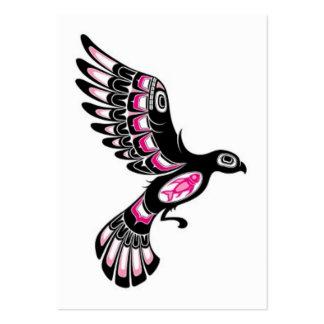 Volar el pájaro rosado y negro del alcohol del Hai Plantilla De Tarjeta De Visita