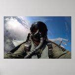 Volar la opinión de la carlinga del halcón de F-16 Poster