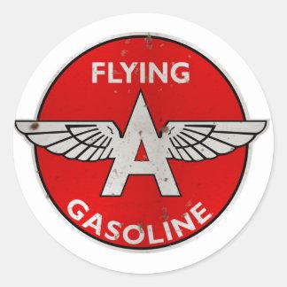 Volar una gasolina aherrumbró versión pegatina redonda