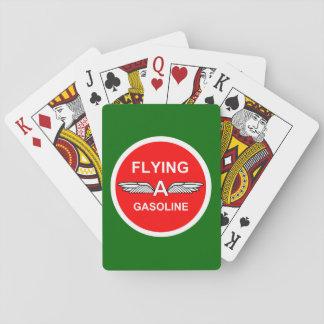 Volar una gasolina cartas de póquer