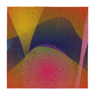 Volcán abstracto posavasos