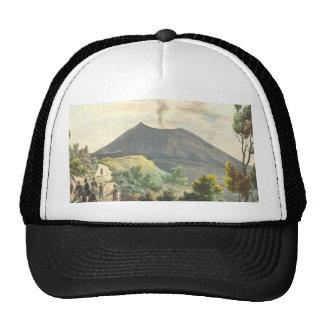 Volcán activo de Vesuvio Nápoles 1832 Italia Gorro De Camionero