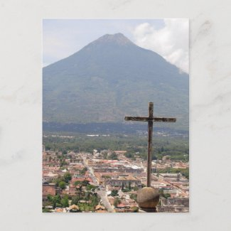 Volcan Agua, Guatemala, Postcard postcard