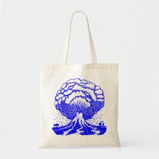 Volcán - azul bolsa tela barata