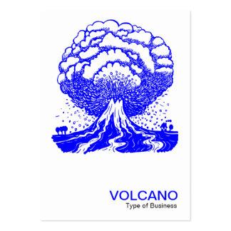 Volcán - azul tarjeta de visita