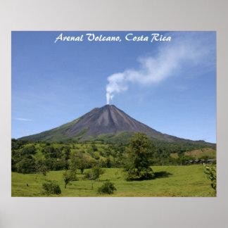 Volcán Costa Rica de Arenal Póster