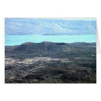 Volcán de Ardoukoba Tarjeta De Felicitación