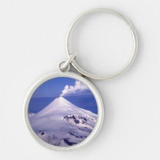 Volcán de las islas Aleutian Llavero Redondo Plateado