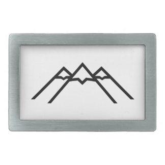 Volcán de las montañas hebillas de cinturón rectangulares