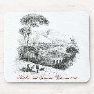 Volcán de Nápoles y de Vesuvio Mousepad 1850 Alfombrillas De Ratones