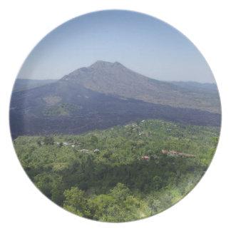 Volcán del Balinese Plato De Cena