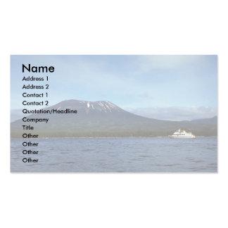 Volcán extinto, isla de Baranov, Alaska Tarjetas De Visita