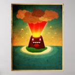 Volcán feliz poster