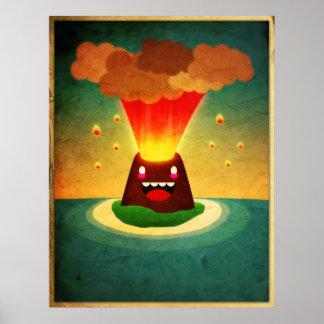 Volcán feliz póster