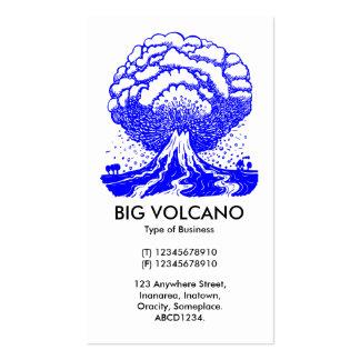 Volcán grande - azul plantillas de tarjetas personales